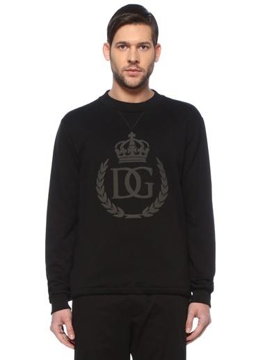 Dolce&Gabbana Dolce&Gabbana  Bisiklet Yaka Logolu Sweatshirt 101620209 Siyah